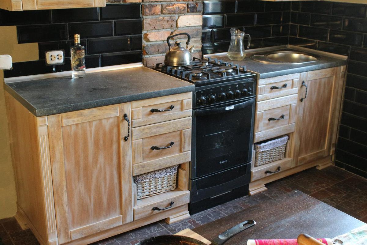 реставрация деревянных кухонных фасадов