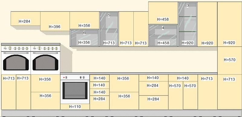 Размеры фасадов ящиков