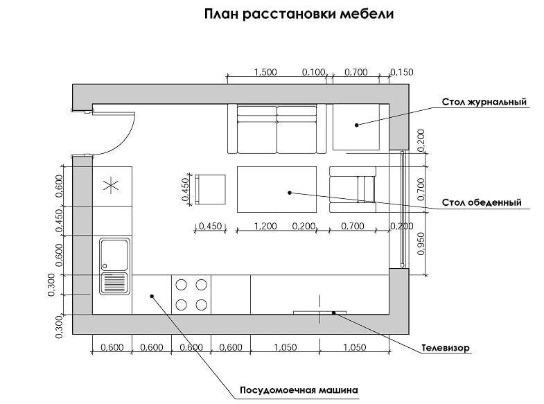 пример плана расстановки мебели