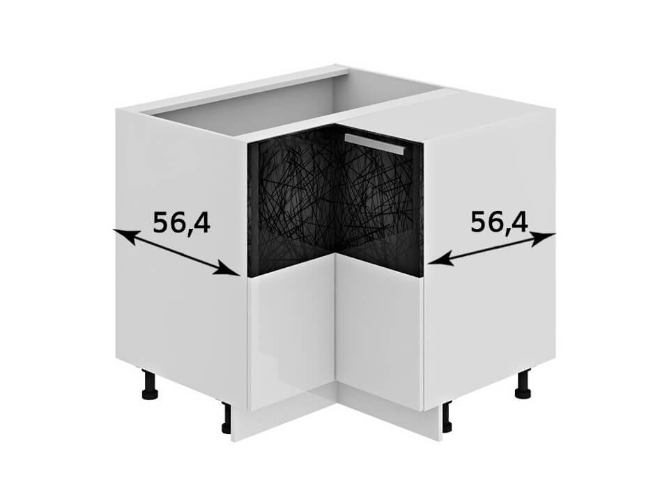 угловой напольный шкаф