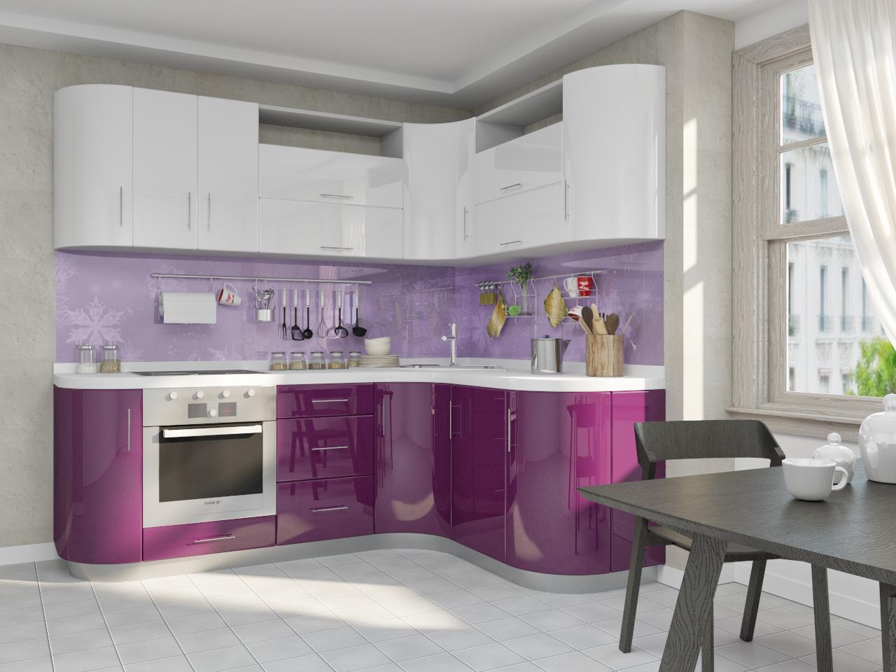кухня с радиусной частью