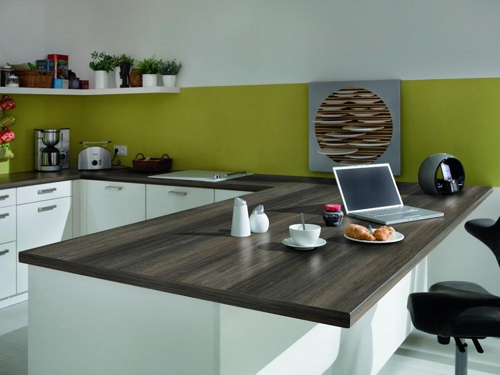 пластиковая столешница для кухни в стиле минимализм