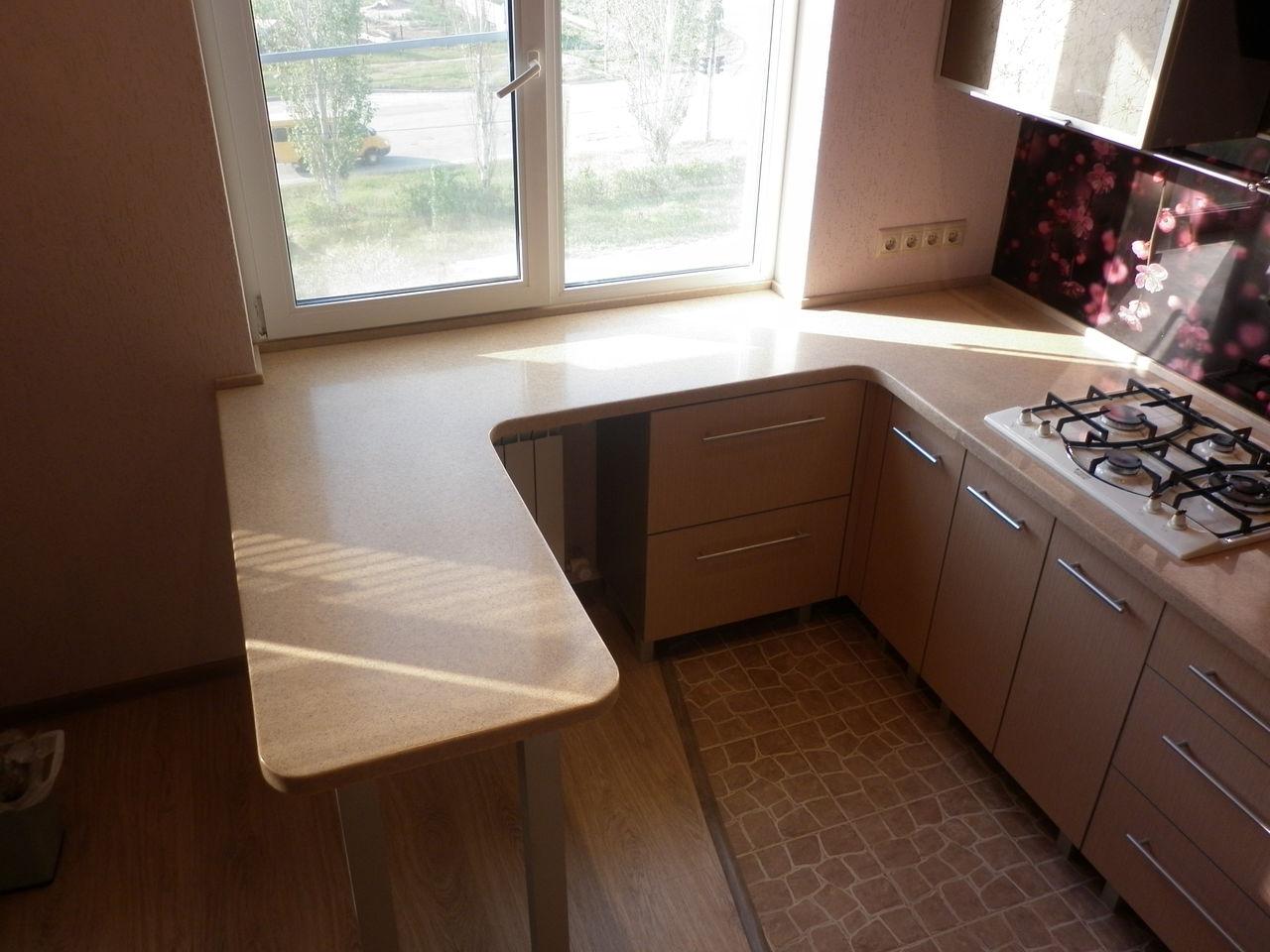 стол из искуственного камня вместо подоконника