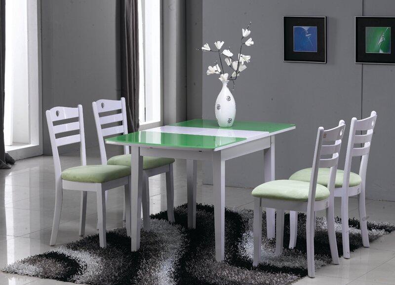 раздвижной стол глянцевый