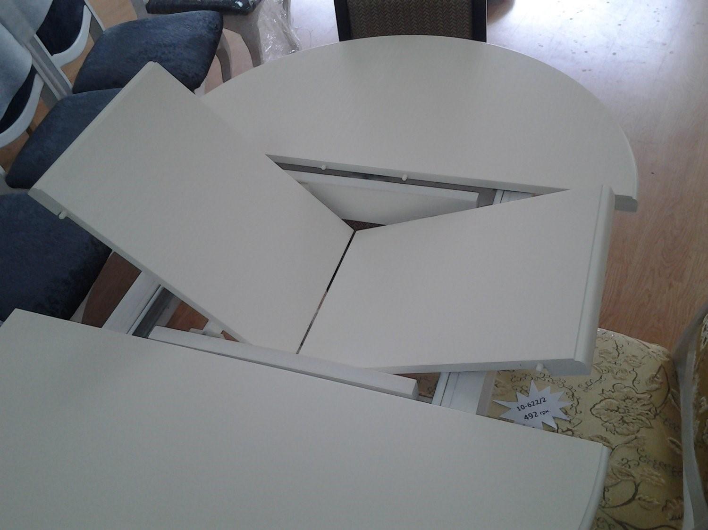 овальный раздвижной стол