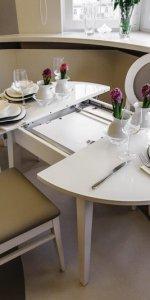 раздвижной стол белый