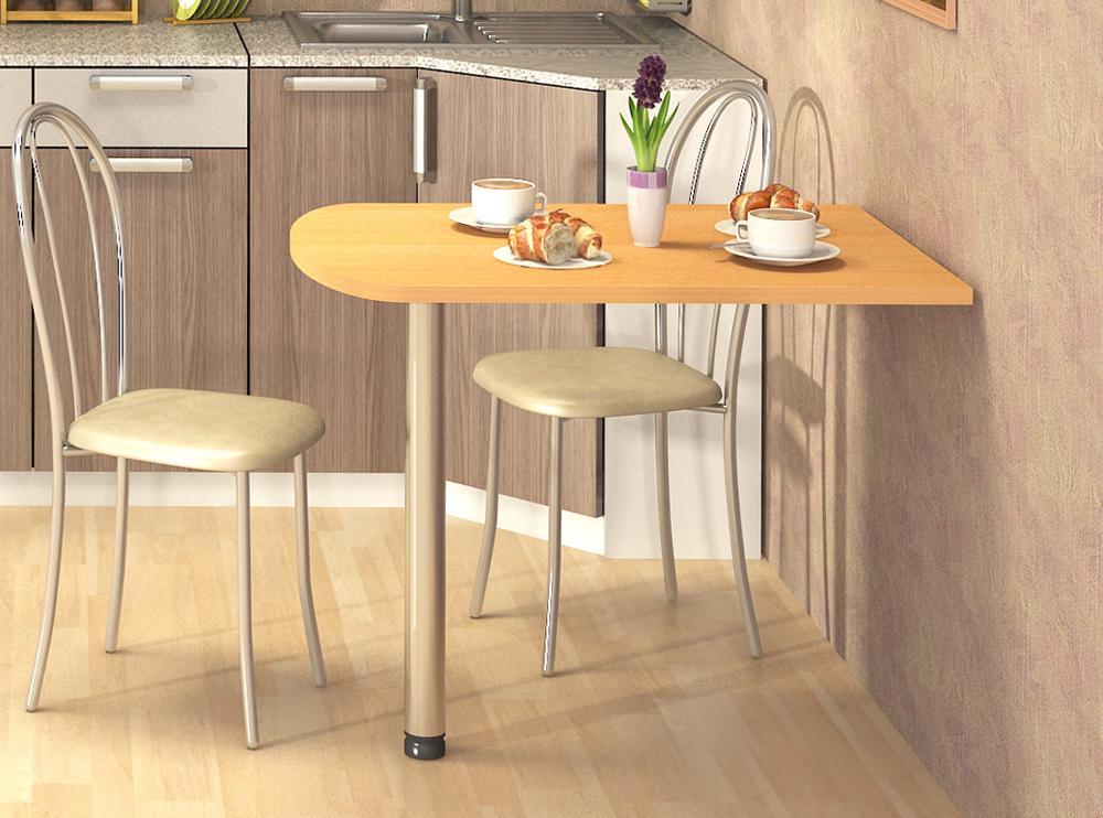 полуовальный раскладной стол