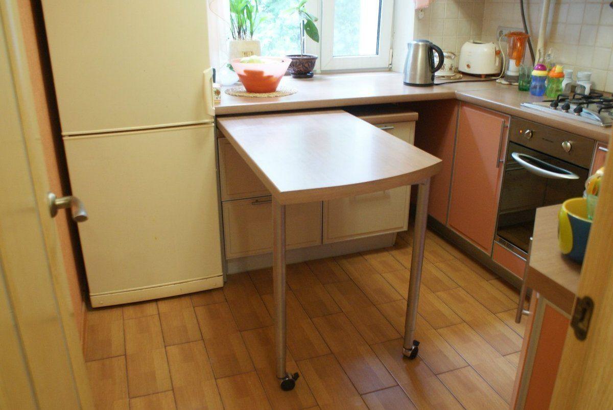 выдвижной стол из подоконника