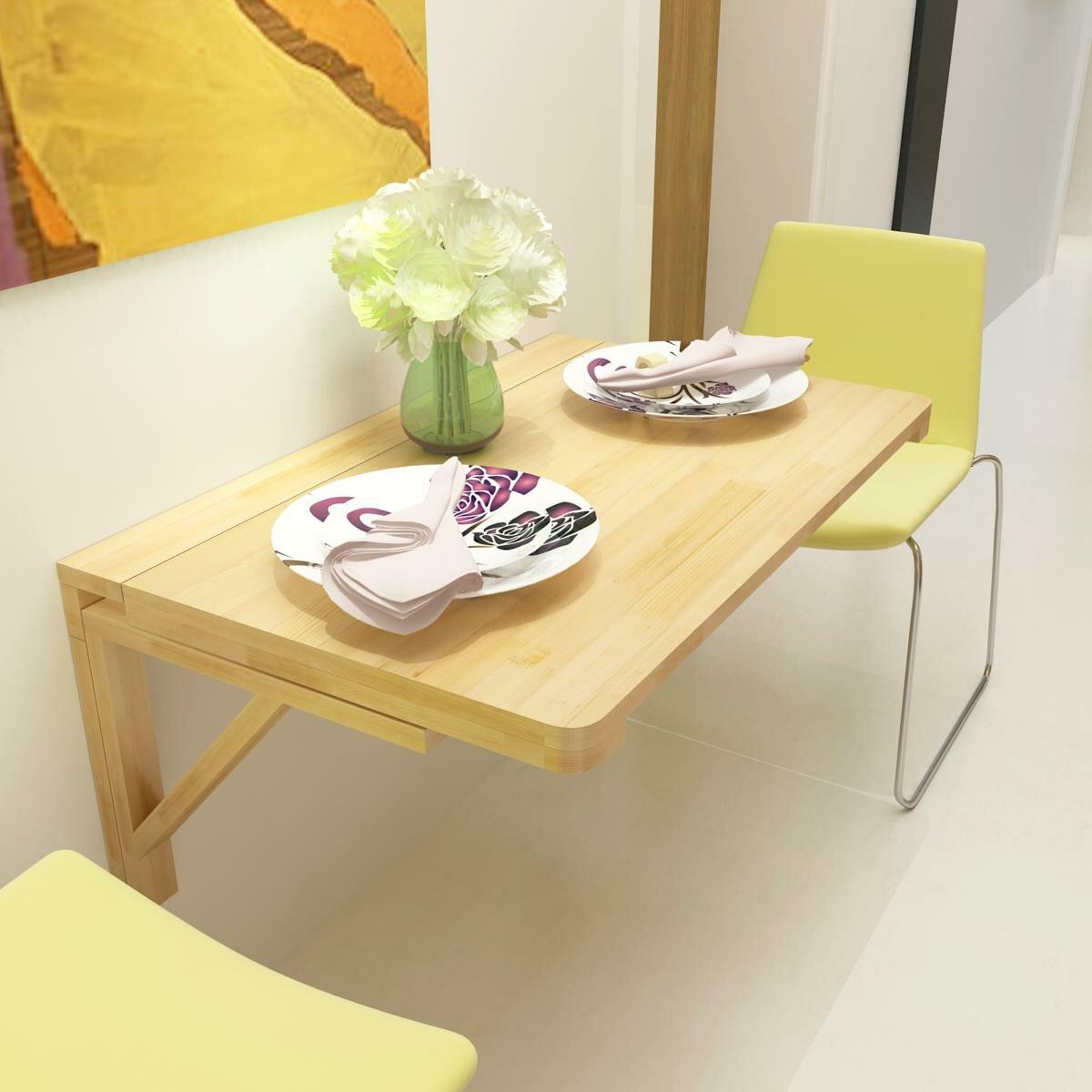 пристенный раскладной стол без ножек