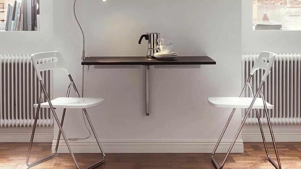 откидной стол от стены