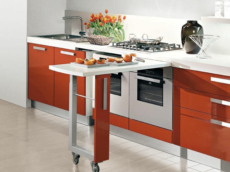 выкатная столешница для кухни