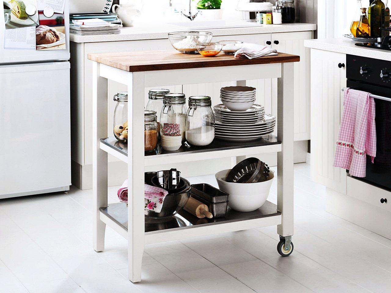 столик для кухни на колесиках
