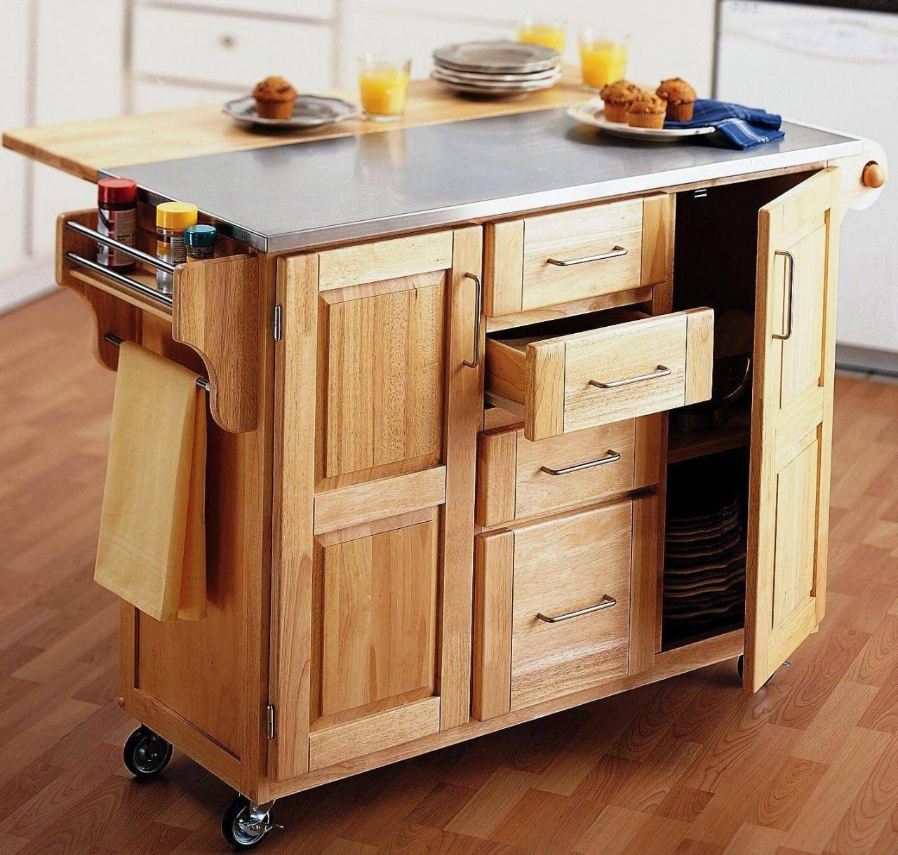 откатной столик-шкафчик