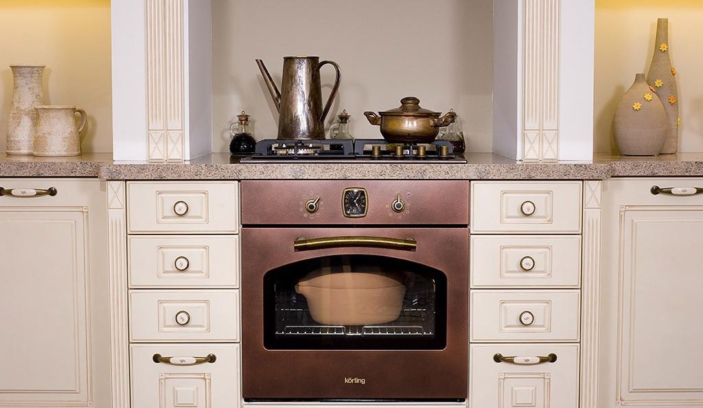 бронзовый духовой шкаф