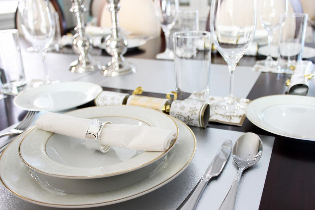 сервировка тарелок и приборов