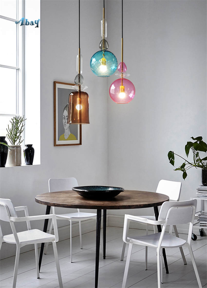 светильники-подвесы для кухни над обеденным столом
