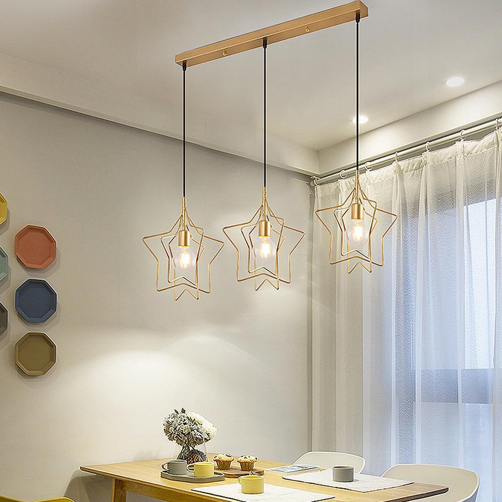 лампы-подвесы над обеденной зоной