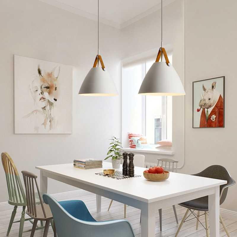 лампы с рассеянным светом на кухне