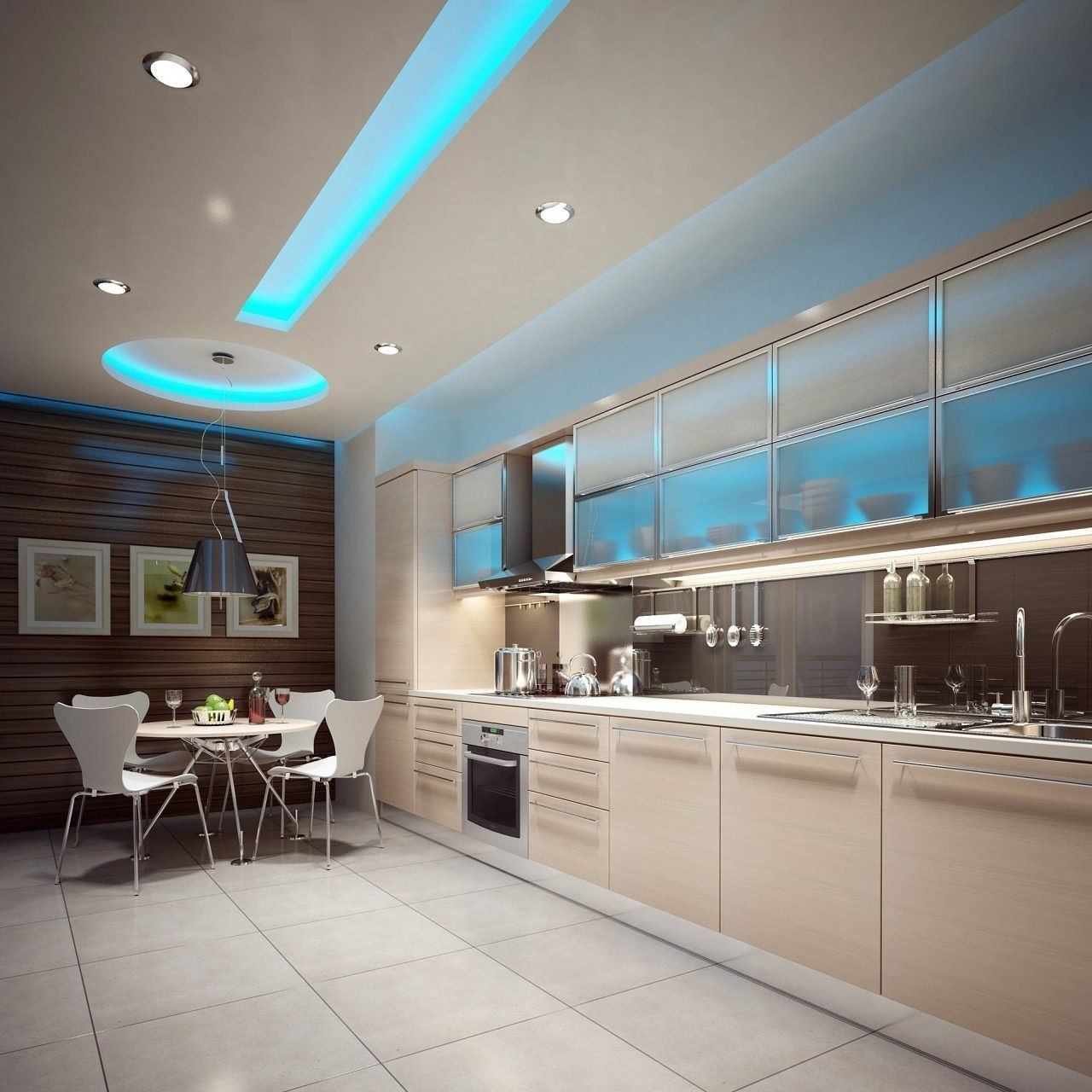 подсветка обеденной зоны на кухне
