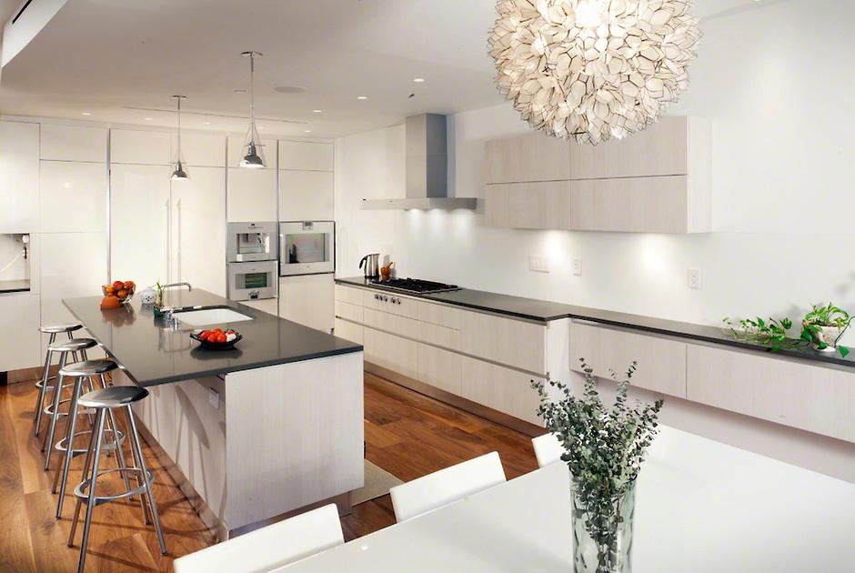 дизайн кухонного освещения