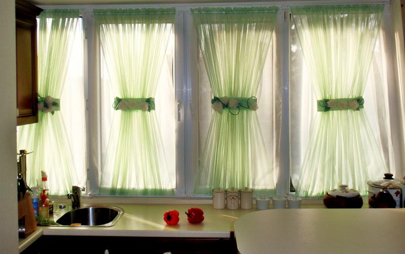 Витражные шторы на кухню