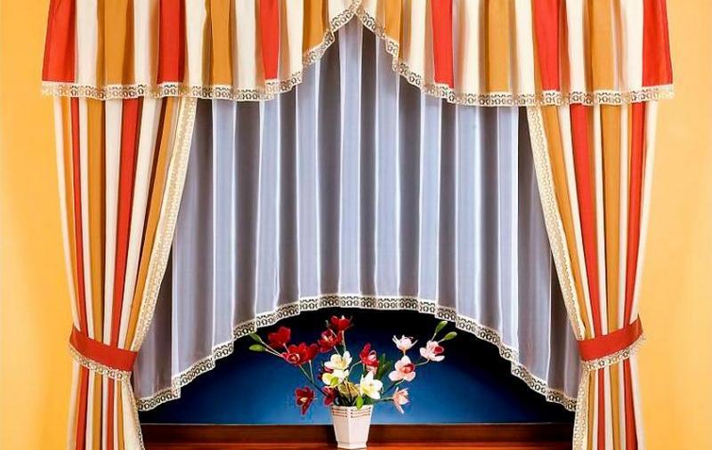 короткие шторы с ламбрекеном