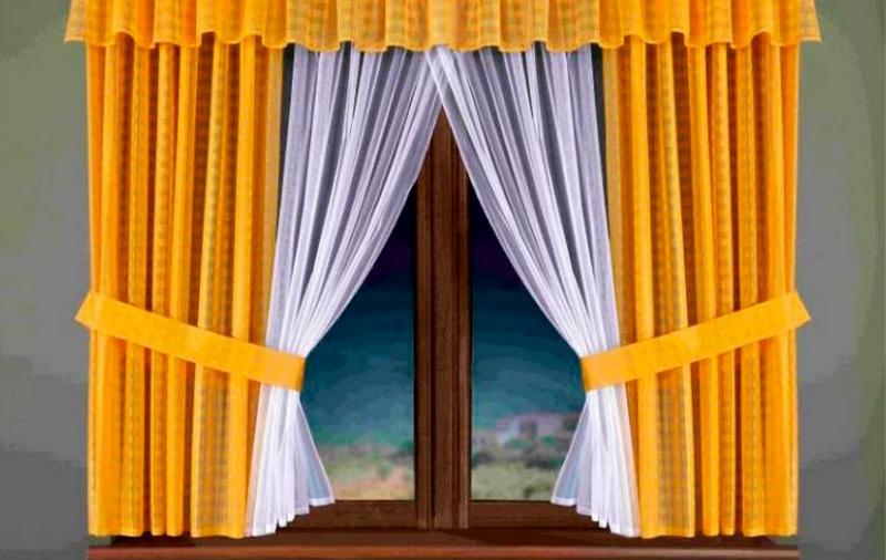 Шторы с ламбрекеном на окно
