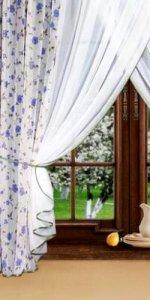 шторы из натуральной ткани на окно