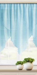 голубые короткие шторы