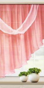 розовые короткие шторы