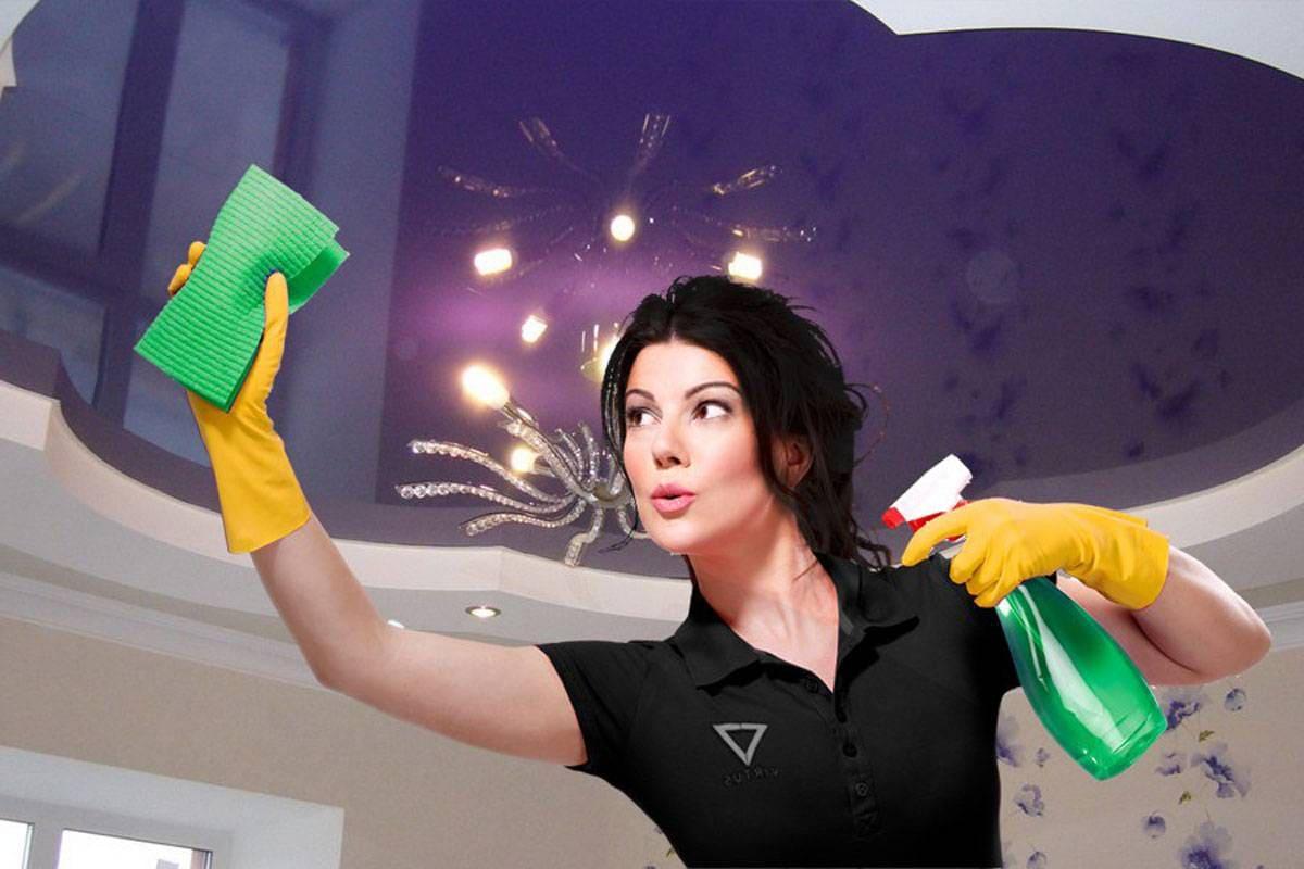 в жилых помещениях мытье потолка нужно каждые 6-12 месяцев