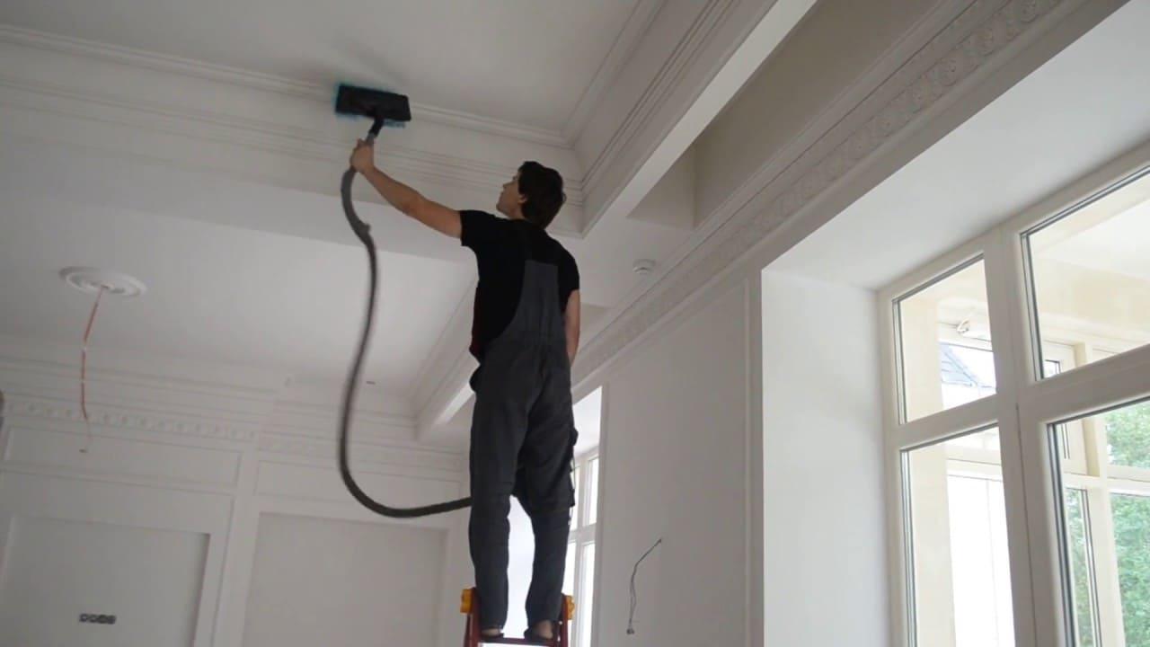мытье натяжного потолка профессионалами