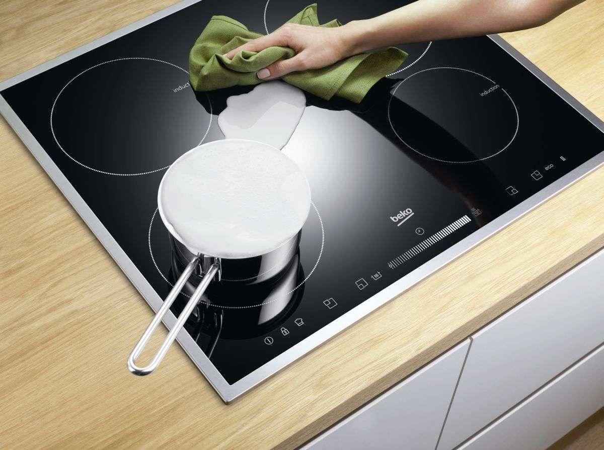 очистка стеклокерамической плиты