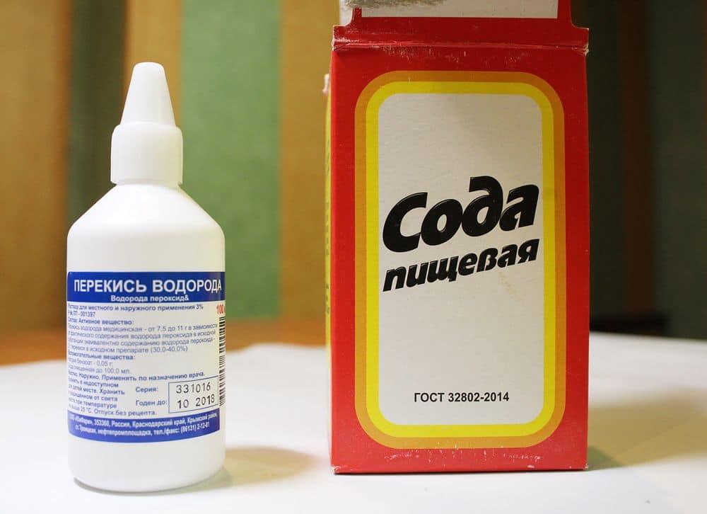 пищевая сода с перекисью водорода