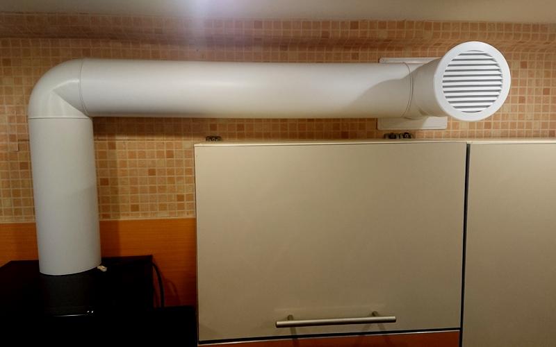 удобная естественная вентиляция на кухне