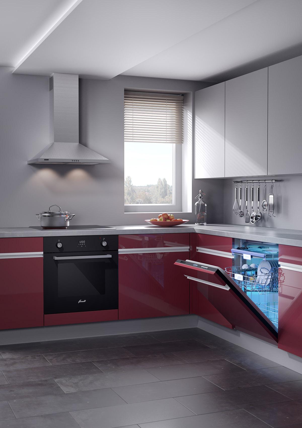 итальянская вытяжка Элика Оретта (Еlica Orеttа) Wh-А-60 в интерьере кухни