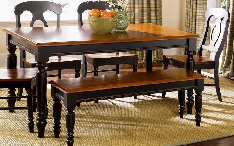 дизайн деревянного обеденного стола