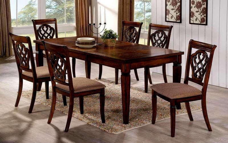 дизайн обеденного стола из дерева