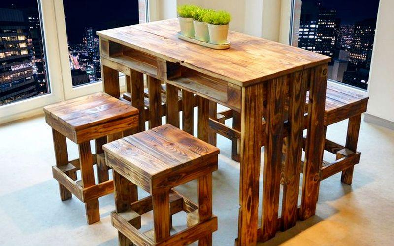 обеденный стол из паллетов