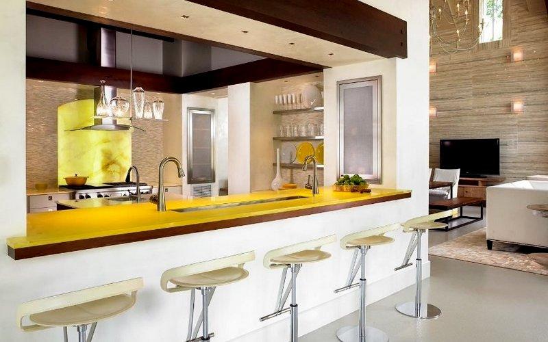 стол с барной стойкой для кухни