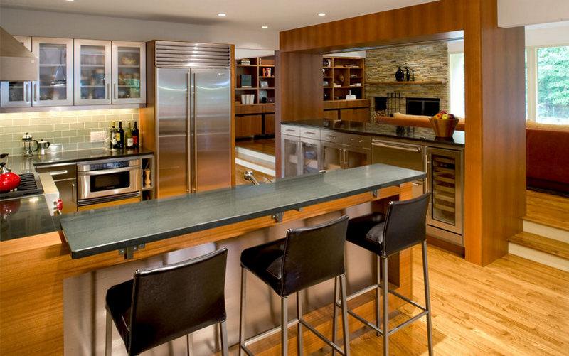 Cтол с барной стойкой для небольшой кухни