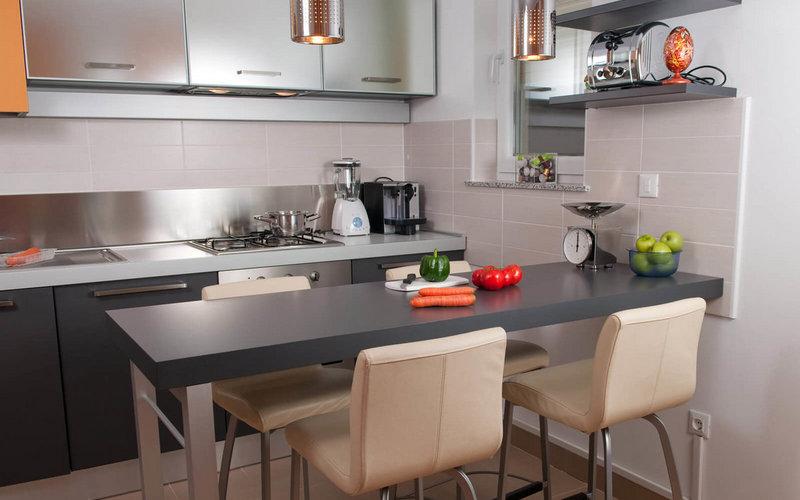дизайн стола с барной стойкой для кухни