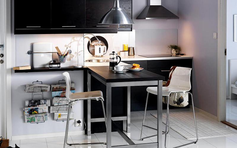 красивый барный стол на кухне