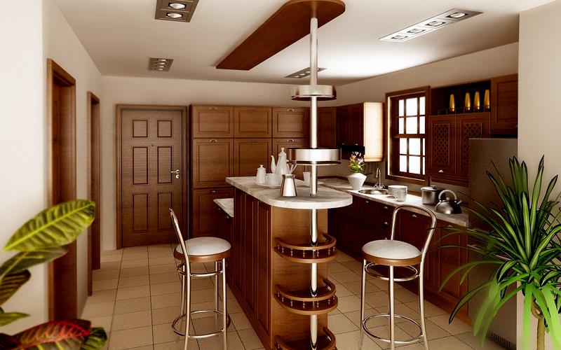 фото дизайна барной стойки на кухне