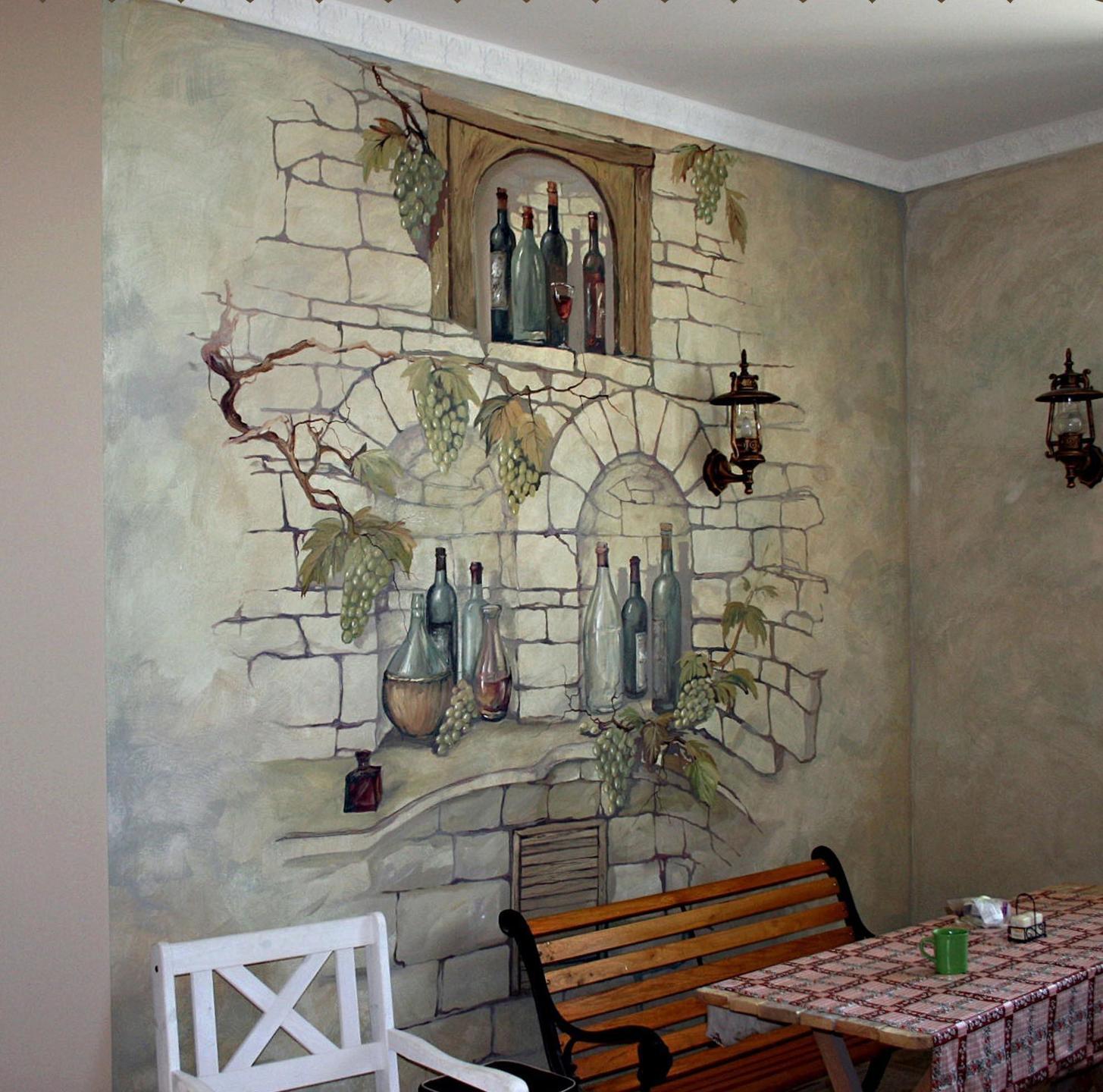 имитация каменной стены дома