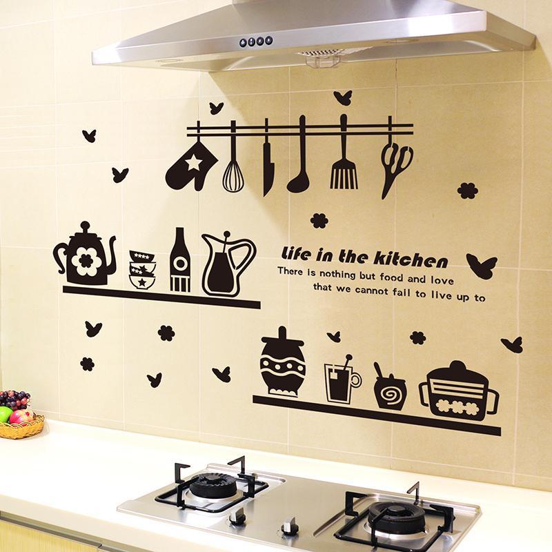 наклейки на кухонной стене