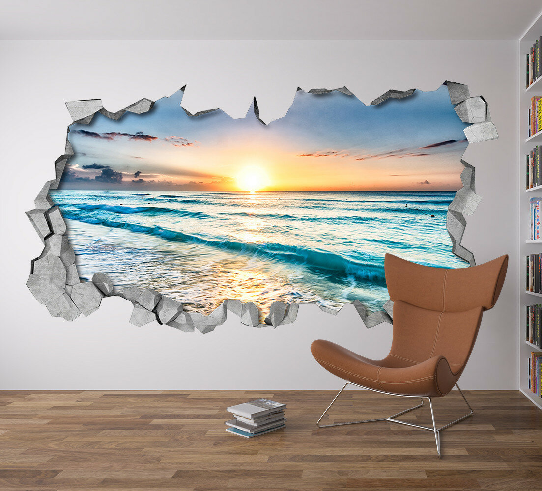 3д рисунок море