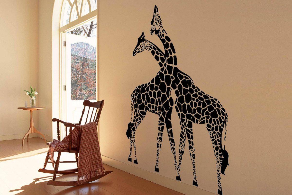 жирафы рисунок