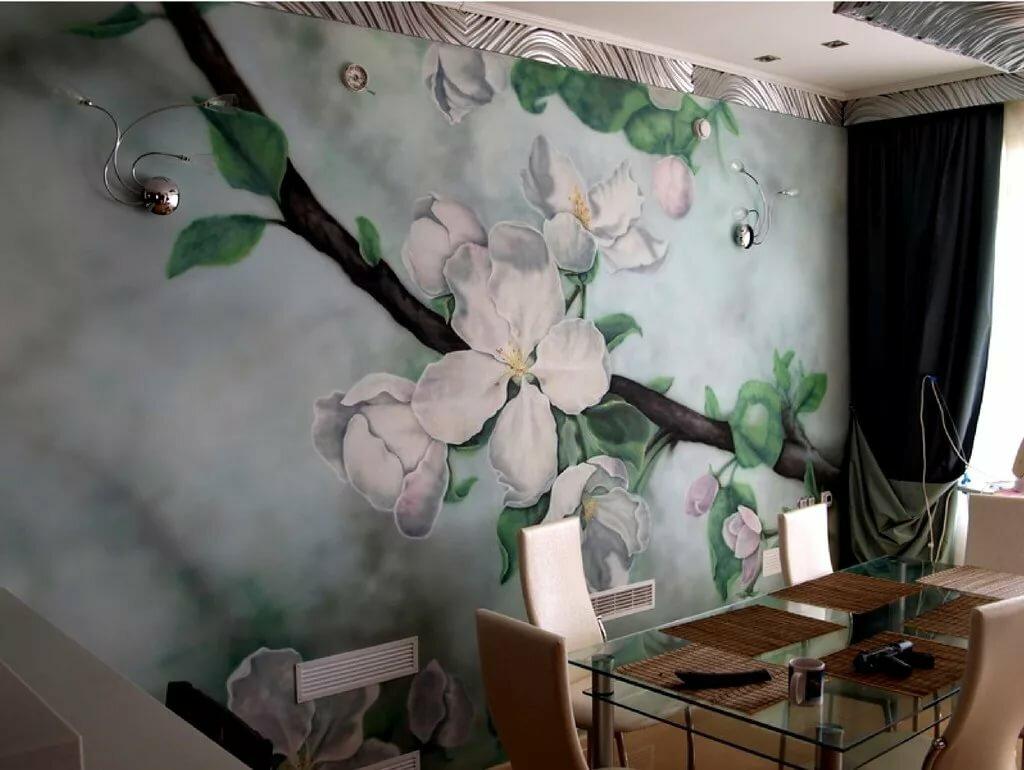 цветочная раскраска стен