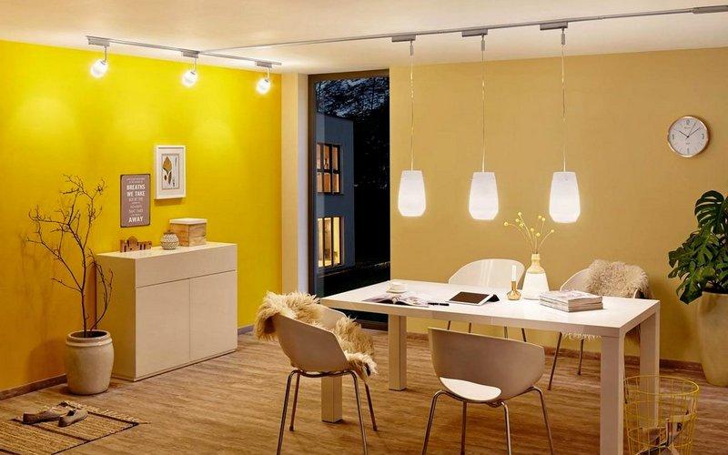 освещение обеденной зоны на кухне